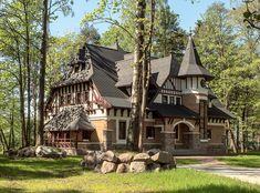Landscape Architecture Design, Unique Architecture, Storybook Cottage, Tudor Cottage, Tudor House Exterior, Tudor Style Homes, House Front Door, New England Homes, Castle House