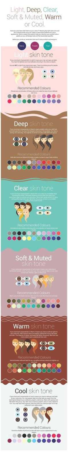 Colors to Wear to Match Your Skin Tone! #beauty #beautytips #skintone #face #fashionmagenet