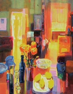 """Morning in Paris, 2000"" Acrylic on Canvas Abstract Wall Art by Martin Decent via @greatbigcanvas"
