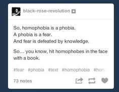 Violence is never the answer, though it may be tempting. | 14 Times Tumblr Didn't Have Time For Homophobic Comments