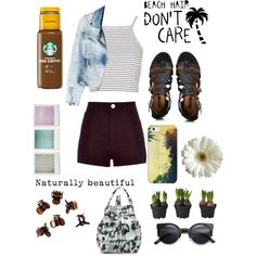 Newport beach outfit ♡♡ ;) by loverofeverything8infinite on Polyvore featuring polyvore fashion style Topshop MANGO River Island Forever 21 Opening Ceremony Casetify H&M Holga