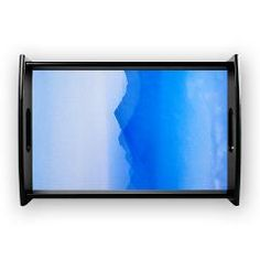 Abstract watercolor texture ombre Coffee Tray> Abstract watercolor texture in blue ombre> Victory Ink Tshirts and Gifts