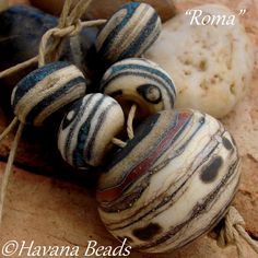 ROMA++Large+Hollow+Focal+Bead+with+4+Coordinating+by+HavanaBeads,+$48.00