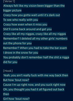 Drake- How Bout Now