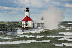 """Natures Canvas"" St. Joseph Lighthouse - St. Joseph, Michigan"