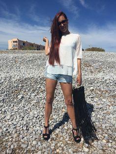 Short + Blusa blanca = LOOK DE VERANO