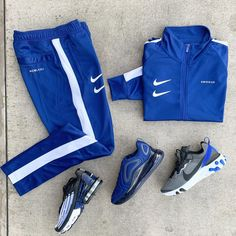 """Denim Exchange on Instagram: """"I See All The Hate In These Foos They Don't Want Me To Be Winning . Swoosh Track Jacket:$90 Swoosh Track Joggers:$80 All @denimexchange ."""" Dope Outfits For Guys, Swag Outfits Men, Nike Outfits, Outfits For Teens, Casual Outfits, Teen Boy Fashion, Nike Fashion, Men's Fashion, Winter T Shirts"""
