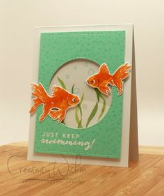 Goldfish by ilinacrouse - Cards and Paper Crafts at Splitcoaststampers Hero Arts