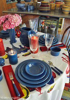 Fiesta® Dinnerware tabletop | thelittleroundtable.com