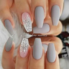 346 Best Gray Nails images in 2019