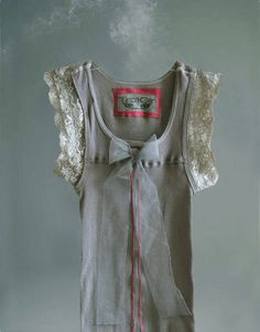 Womens gray tank bow tulle trend designer couture by by tratgirl55, $52.99