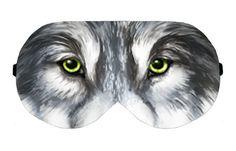 Wild Wolf Handmade Sleep Sleeping Eye Mask Masks Blindfold Eyemask Eyeshade Sleepmask Travel Kit Eyes Shade cover Slumber Slumbers Eyewear by venderstore on Etsy