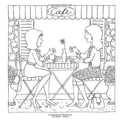 AmazonSmile: The Coloring Cafe-Volume Two: A Coloring Book for Grown-Up Girls (Volume 2) (9780989826655): Ronnie Walter: Books