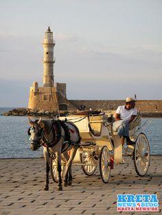 Chania Hafen Pferdekutsche (Kreta/Crete)