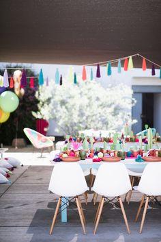 Llama-inspired Frida Kahlo 3rd birthday party