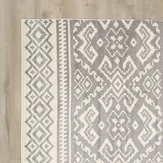 Allensby Ivory & Silver Area Rug
