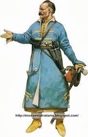 JOUPANE: Prenda básica Polaca. Larga túnica, usada por los hombres de todas las calses sociales, eran de encaje apretado mangas de ancho variable.
