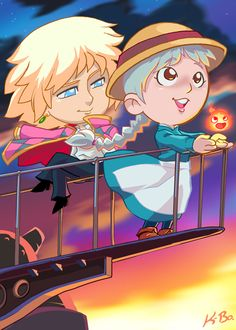 Studio Ghibli: Howls Moving Castle Art Card by kevinbolk.deviantart.com on @deviantART