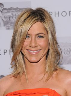 Jennifer Aniston wearing Vivienne Westwood to promote her new fragrance at Sephora Lexington Avenue in New York City.