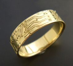8545d307959 Gold Circuit Board Ring Wedding Rings For Women