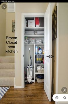 20 Trendy Small Coat Closet Storage Entry Ways Small Coat Closet, Small Closet Storage, Coat Closet Organization, Utility Closet, Organization Ideas, Clever Closet, Storage Ideas, Closet Shelves, Bedroom Organization