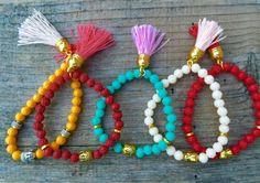 BuddhaYogaMala Bracelet-Tibetan pink Mint by elsyrene on Etsy