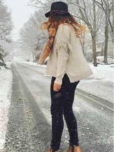 Classically Cait: Fancy Pants Snow Day