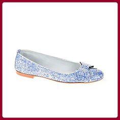 Gardenia Damen Ballerinas Leder Blau Silber Weiß, Schuhgröße:37.5 - Ballerinas für frauen (*Partner-Link)