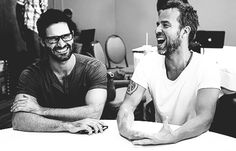 Tyler Hoechlin and JR Bourne @ Press Room SDCC 2014 Tumblr