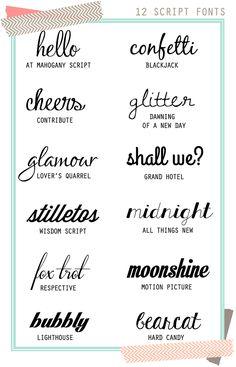 Twelve {Free} Script Fonts