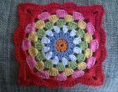 "Robins Nest Square (7"") - free crochet pattern / step-by-step photo tutorial from ayarnyrobin."