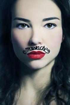 Movember, woman portrait, portraiture, beaty, fashion, moustache