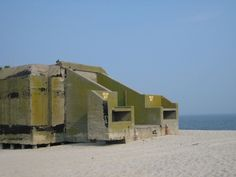 Dead giant on the beach : Abandoned Cape May concrete WW2 bunker, New Jersey…