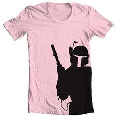 Mixed Tees Womens Star Wars Boba Fett T-Shirt 1 of 1