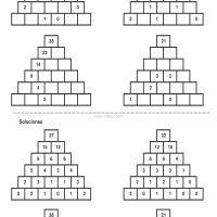 400 Pirámides Numéricas Maths Puzzles, Homeschool Math, Mathematics, Worksheets, Classroom, Base, Ideas Para, Paranormal, Number