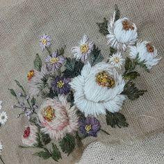 #stitch #needlework취미 #flower #린넨사 #자연 #빛 #embroideryart #watercolorpainting #watercolor