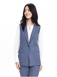 Chambray Lightweight Wool Vest