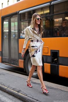 Anna Dello Russo wearing Prada at Milan Fashion Week mfw