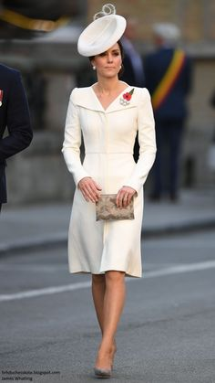 Catherine, Duchess of Cambridge attends the Last Post ceremony, which has taken place every night since 1928, at the Commonwealth War Graves Commission Ypres (Menin Gate) Memorial on July 30, 2017 in Ypres, Belgium.