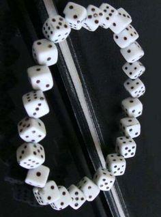 Of the Buncos ladies :) White Dice Link Bracelet