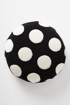 Sherpa Polka Dot Pillow   Anthropologie Pillow Room, Throw Pillows Bed, Bed Throws, Anthropologie, Crochet Home Decor, Pottery Barn Teen, Bed Furniture, Polka Dots, Plush