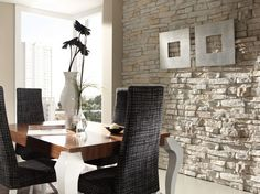 Paredes de piedra para crear espacios cálidos | Decorar tu casa es facilisimo.com