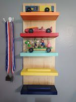 Twinfamous!: DIY Cub Scout Pinewood Derby Display Rack