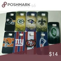 NFL Galaxy s6 phone cases Choose between   Pittsburgh Steelers Green Bay Packers  Baltimore Ravens  New Orleans Saints  New York Jets  Cleveland Browns  New York Giants  San Francisco 49ers New England Patriots Accessories Phone Cases