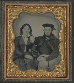 [Unidentified sailor with his wife] (LOC) by The Library of Congress, via Flickr
