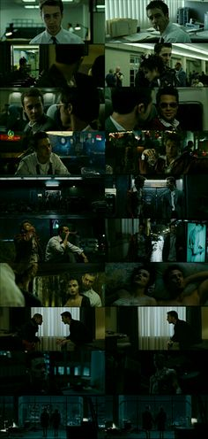 Brad Pitt, Edward Norton and Helena Bonham Carter as Tyler Durden, The Narrator and Marla Singer in David Fincher's Fight Club (1999)