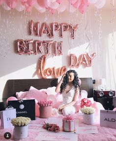 Surprise Birthday Decorations In Your Bedroom Birthday Goals, Birthday Party For Teens, 18th Birthday Party, Birthday Photos, Birthday Celebration, Girl Birthday, Birthday Ideas, Birthday Room Surprise, Birthday Room Decorations