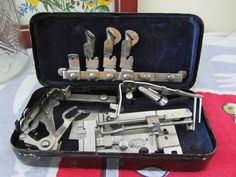 griest & singer attachments in metal box  http://stores.ebay.com/lastchancewhitakersretrovintage