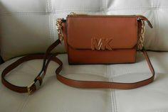New Michael Kors Florence Mini Messenger Crossbody Walnut/Brown  #MichaelKors #MessengerCrossBody