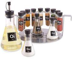 Chemistry set spice rack